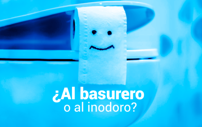 al basurero o al inodoro